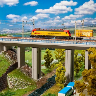 "Pont en béton ""4 Piles"" 2 voies-N 1/160-FALLER 222571"