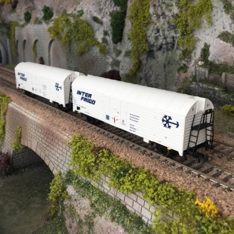 2 Wagons frigorifiques, SNCF Ep IV - HO 1/87 - ROCO 76040