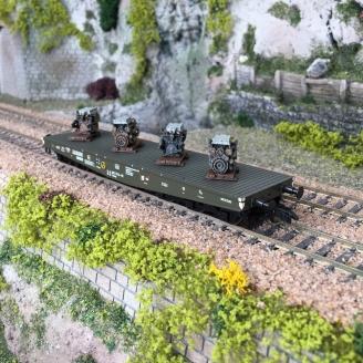 Wagon plat transport lourd type Sammp DB Ep IV-HO-1/87-LILIPUT 235742