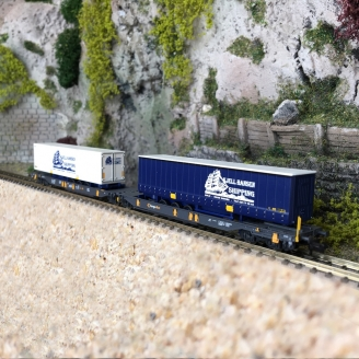 Wagon articulé double poche, CargoNet Ep VI - N 1/160 - FLEISCHMANN 825012
