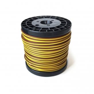 Câble Marron / Jaune 2 brins souple cuivre 25 m / 0.14 mm² - HERKAT 3632