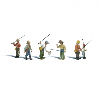 6 pêcheurs-HO 1/87-WOODLAND SCENICS A1910