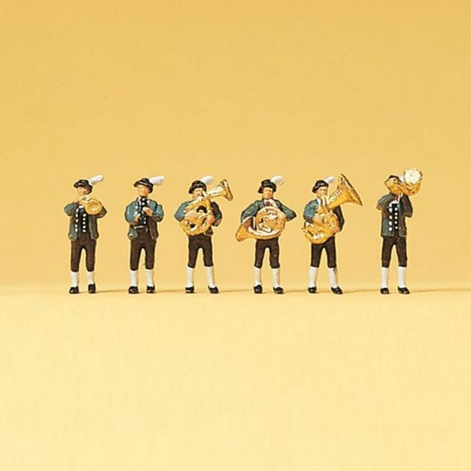 6 musiciens Bavarois Traditionnels - N 1/160 - PREISER 79121