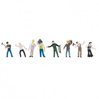 8 Ouvriers artisans -HO 1/87-FALLER 151605