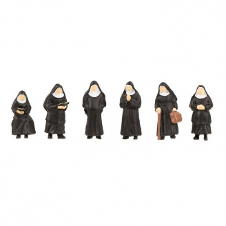 6 Bonnes Soeurs / Religieuses -HO 1/87-FALLER 151601