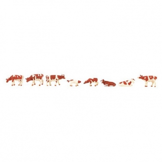 Vaches marrons et blanches-N-1/160-FALLER 155902