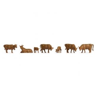 Vaches marrons-HO-1/87-NOCH 18216