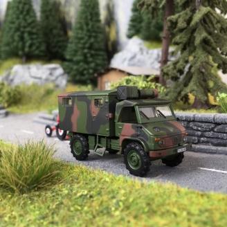 Mercedes Unimog S404 Armée-HO 1/87-SCHUCO 452652800