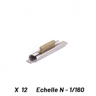 12 éclisses Raccord aux voies Arnold - N 1/160 - FLEISCHMANN 22240
