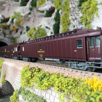 """3 Wagons """"La Poste"""" Ep IV SNCF-HO 1/87-LSMODELS 40422"""