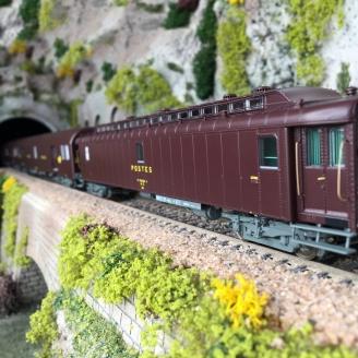 """3 Wagons """"La Poste"""" Ep IV SNCF-HO 1/87-LSMODELS 40421"""