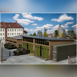 Grand Garage série militaire-HO 1/87-FALLER 144103
