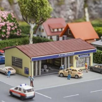 Garage avec éclairage-N 1/160-FALLER 232561