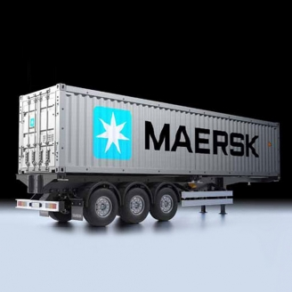 Semi-Remorque Container MAERSK - 1/14 - TAMIYA 56326