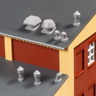 24 aérations de toit - HO 1/87 - AUHAGEN 80103
