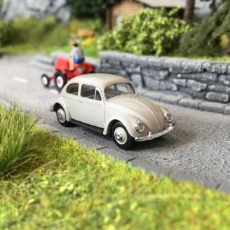 Volkswagen Coccinelle Ovale 1955 Grise-HO 1/87-BUSCH 52951