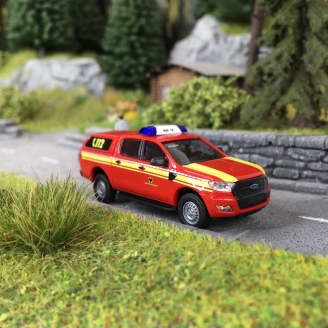 Ford Ranger Pompiers-HO-1/87-BUSCH 52821
