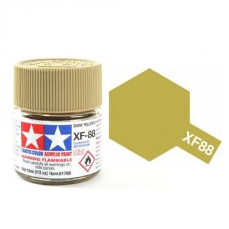 Jaune Sombre 2 mat pot de 10ml-TAMIYA XF88