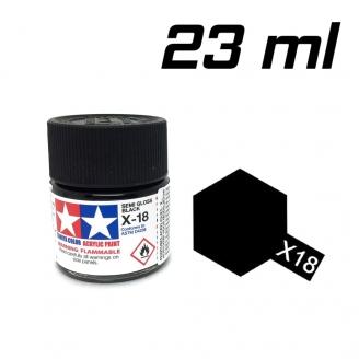 Noir satiné pot de 23 ml-TAMIYA X18