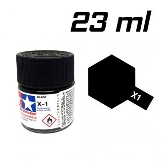 Noir Brillant pot de 23 ml-TAMIYA X1