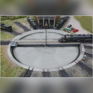 Pont tournant motorisé Ø 47.8 cm-HO 1/87-WALTHERS 933-2859
