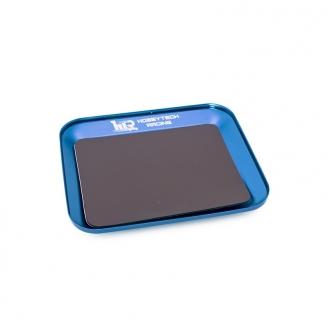 Plateau magnétique en aluminium bleu 119x101mm -  HOBBYTECH HT421850BL
