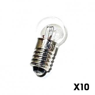 10 Ampoules a vis Blanches, 19 volts - HO 1/87 - MARKLIN E600200