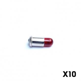 10 Ampoules à douille rouge Q10 - HO 1/87 - MARKLIN E600010