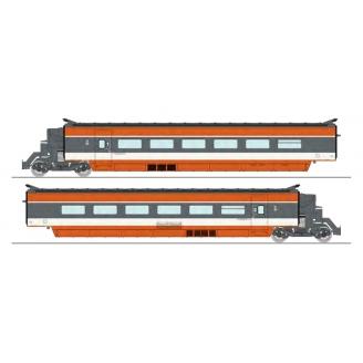 Coffret TGV PSE 2 éléments R2/R5/R6, N°69 rame d'origine, Sncf Ep IV -HO 1/87-REE TGV003