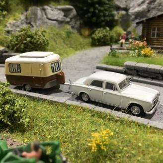 Peugeot 403 + Caravane Eriba-HO 1/87-SAI 6238