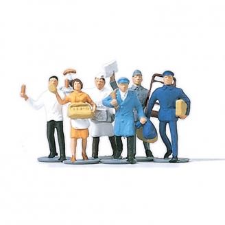 6 vendeurs / employés - N 1/160 - MERTEN 270800