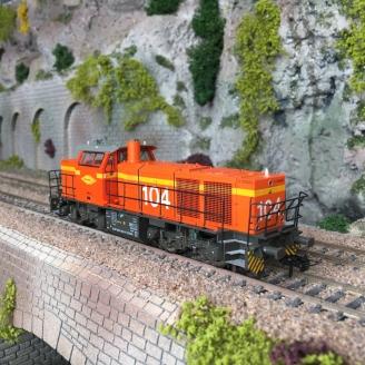 Locomotive diesel Vossloh G1000 COLAS RAIL 104, Ep VI-HO 1/87-Mehano 90272