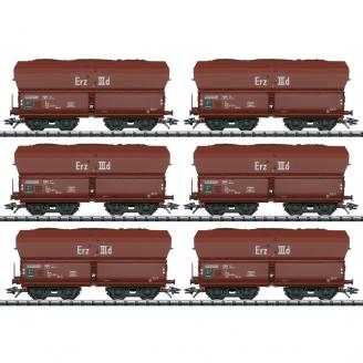 6 wagons-trémies Erz IIId DB Ep IV - HO 1/87 - TRIX 24150