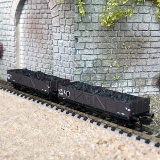 Coffret de 2 wagons TTouw, SNCF Ep III- N 1/160 - ARNOLD HN6492