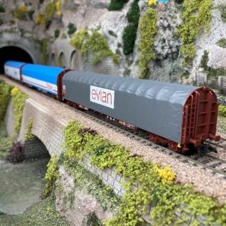 3 wagons à bâche coulissante SNCF Ep IV -HO 1/87- MARKLIN 47118