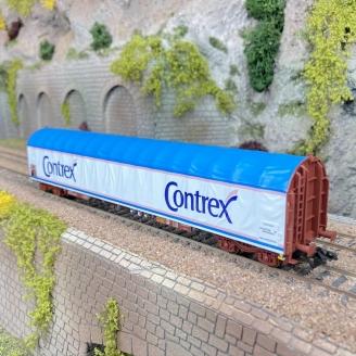 """Wagon à bâche coulissante """"Contrex"""" SNCF Ep IV -HO 1/87- MARKLIN 4711802"""
