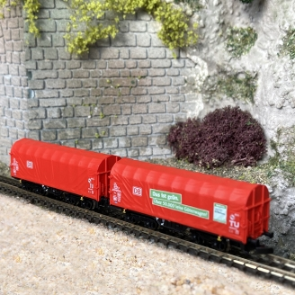 2 wagons Shimmns-tu 718 DB Cargo Ep VI -Z 1/220-MARKLIN 86356