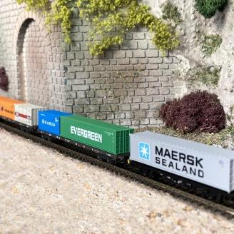Coffret de 6 wagons porte conteneurs DB Ep V -Z 1/220-MARKLIN 82665
