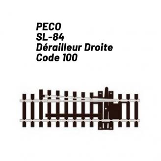 Rail de déraillage Droite Code 100 98 mm-HO 1/87-PECO SL84
