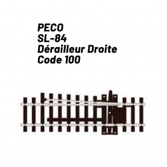 Dérailleur droite Code 75 -HO 1/87-PECO SL184