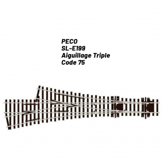 Aiguillage Triple code 75-HO 1/87-PECO SLE199