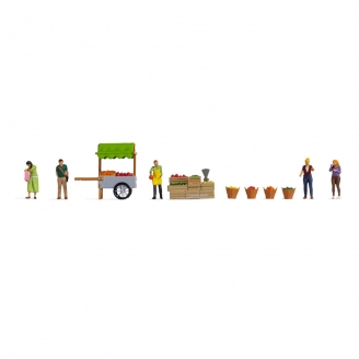Vendeur de Fruits - Scène de Marché -HO 1/87-NOCH 16226