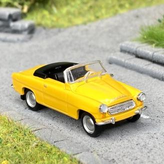 Skoda Felicia cabriolet jaune -HO 1/87-BREKINA 27439