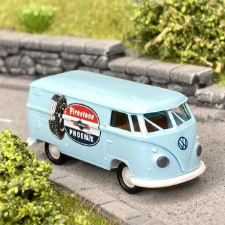 Volkswagen T1b Firestone bleu clair -HO 1/87-BREKINA 32740