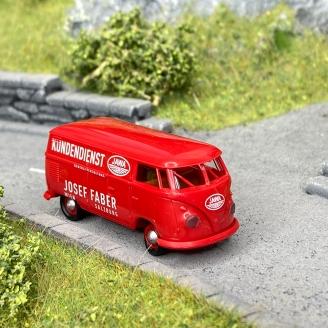 Volkswagen T1b Kundenduenst rouge -HO 1/87-BREKINA 32731