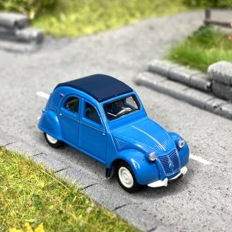 Citroën 2 CV AZLP 1958 bleu glacier, capote bleu foncé fermée -HO 1/87-SAI 6003