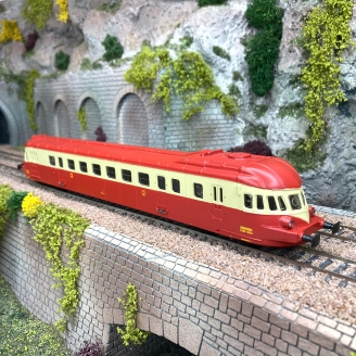 Autorail ABJ4 XBDP 3623 Sncf  collection -H0 1/87- AS  OC120921A