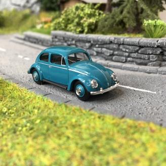 Volkswagen Coccinelle Ovale 1955 Bleue-HO 1/87-BUSCH 52950