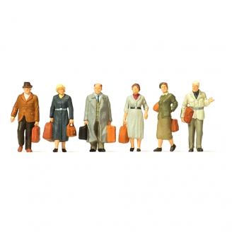6 passagers sur le quai Ep III-HO 1/87-PREISER 10582