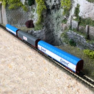 3 wagons à bâche coulissante SNCF Ep IV -Z 1/220- MARKLIN 82427